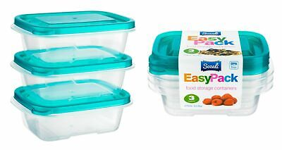 £8.79 • Buy 6pc 270ml Food Storage Container Box With Lids Tupperware Plastic Strong Handy