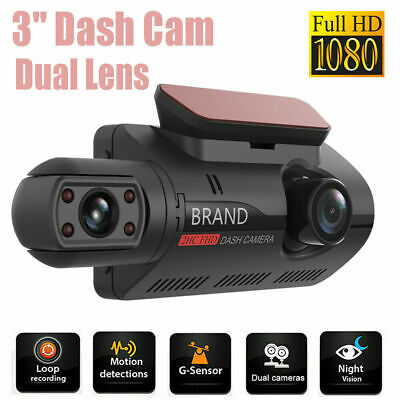 AU46.99 • Buy Car Dash Cam DVR Video Recorder Dual Lens Camera HD 1080P Touch Screen G-Sensor
