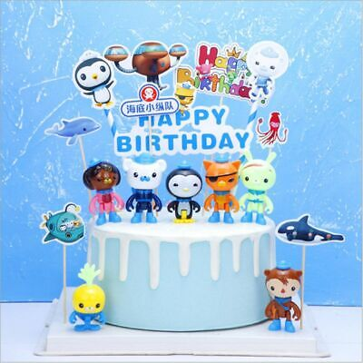 £5.99 • Buy UK 8Pcs The Octonauts Figures Octo Crew Pack Playset Figure Doll Toy Cake Topper