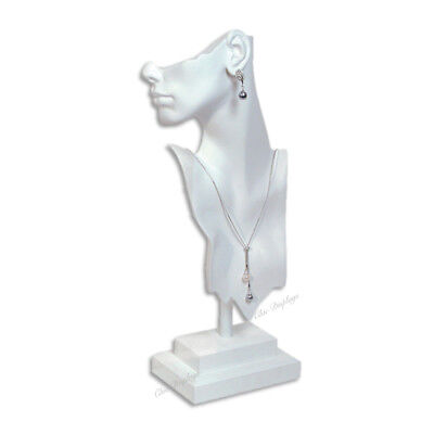 £31.87 • Buy Jewelry Display Mannequin Earring Display Necklace Display Stand White 19.5 Tall