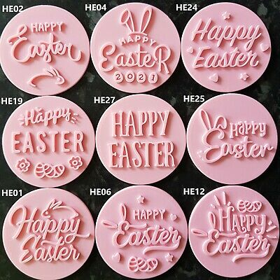 £3.95 • Buy Happy Easter/Love/Thank You/Embosser/Stamp Fondant Cupcake Cake Cookie