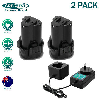 AU61.89 • Buy 2x10.8V 3.5AH Li-ion Battery And Charger For Makita BL1013 BL1014 CL100DZ DF330D