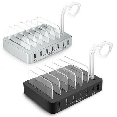 AU37.04 • Buy 6Port USB Charging Dock Station Charger Stand Organizer For Tablet IPAD Phone