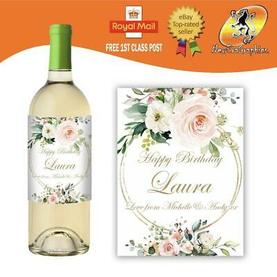 £3 • Buy Personalised Personalised White Wine Bottle Label Any Occasion Gift