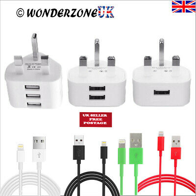 £5.25 • Buy Genuine Charger Plug & USB Sync Cable For Apple IPhone X 8 7 6 Plus IPad UK