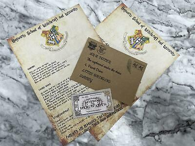 $ CDN12.85 • Buy Harry Potter Personalised Hogwarts Acceptance Letter Real Wax Seal Gift Idea