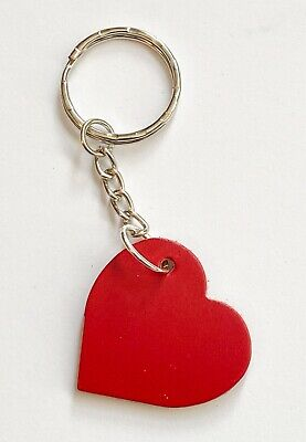 £2.85 • Buy Red Leather Heart  Keyring/Bag/Purse Charm