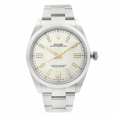 $ CDN11499.92 • Buy Rolex Oyster Perpetual 41MM Steel Silver Dial Automatic Mens Watch 124300SSO