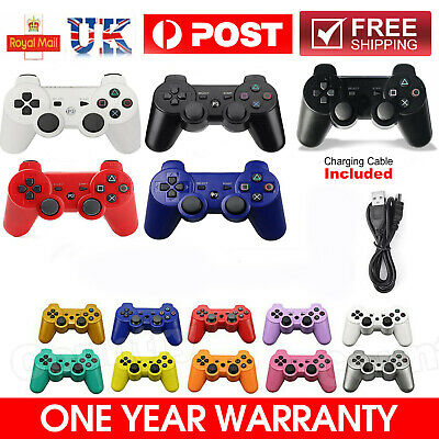 UK PS3 Controller PlayStation3 Wireless SixAxis GamePad With Data Cable Fast • 9.39£