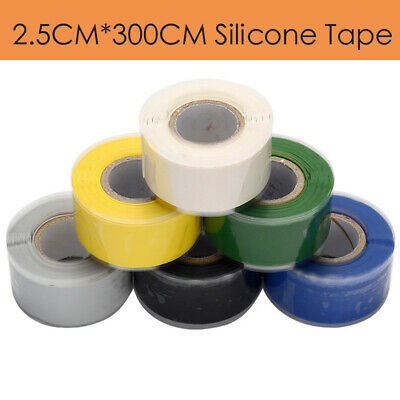 £6.49 • Buy Silicone Fusing Pipe Plumbers Electrition Leak Repair Hose Exhausts Tape 25mmx3m