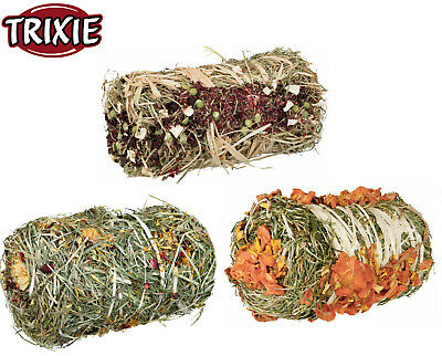£12.98 • Buy 2 X Trixie Small Animal Hay Bale Rabbit Guinea Pig Edible Treat Snack 3 Flavours