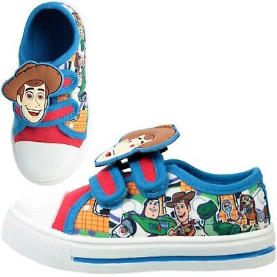 £12.99 • Buy Boys Toy Story Woody Canvas Pumps Character Sports Trainers Shoes Uk Size 6-12