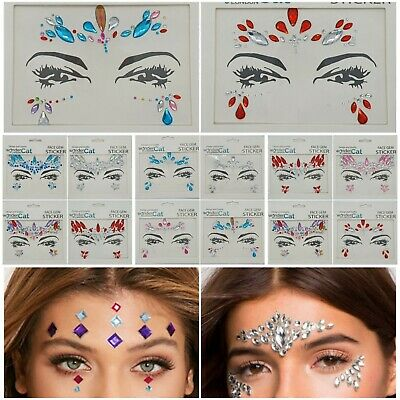 £2.59 • Buy Face Gems Adhesive Glitter Jewel Sticker Tattoo Festival Rave Party Body Make Up