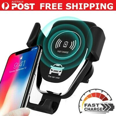 AU17.95 • Buy Qi Wireless Fast Charger Car Holder Gravity Mount For IPhone X XS Max S9+ Note 9