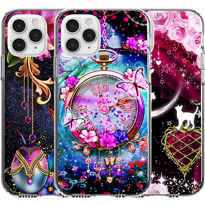AU16.95 • Buy Silicone Cover Case Pink Moon Rabbit Flower Rose Cat Butterfly Cute Pattern Girl