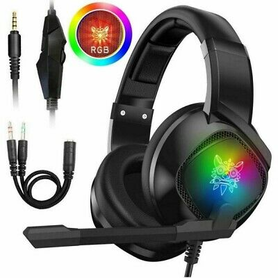 AU27.99 • Buy Gaming Headset USB RGB LED Headphones Stereo With Mic For PC Desktop & Laptop