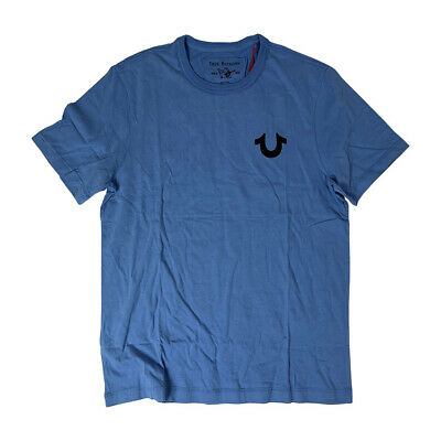 True Religion Brand Jean Men's 100434 Horseshoe Buddha Logo Shirt Tee Top Blue • 19.99£