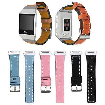 AU13.75 • Buy Quickfit Genuine Leather Wrist Watch Band Strap For Fitbit Ionic
