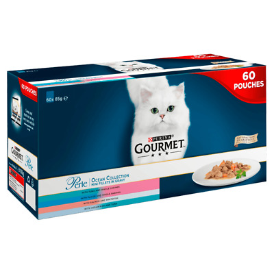 £22.98 • Buy Purina Cat Wet Food Gourmet Perle Chef's Collection In Gravy 60 X 85g Pouches