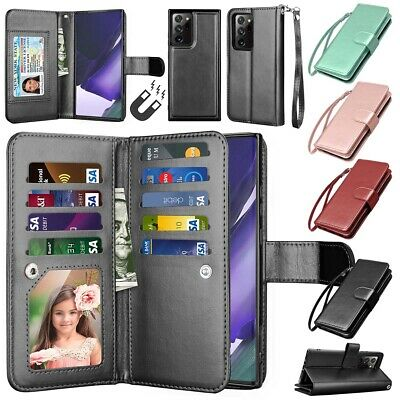 $ CDN12.43 • Buy For Samsung Galaxy Note 20 Ultra Note 10+ 10 9 8 Wallet Case Leather Stand Cover