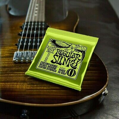 AU20.88 • Buy 3 Sets Ernie Ball 2221 Regular Slinky Electric Guitar Strings 10-46 AC DC