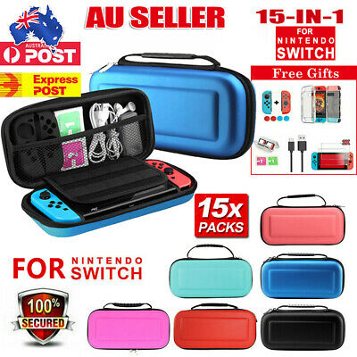 AU18.99 • Buy For Nintendo Switch/ Lite Carry Case EVA Bag+Cover+Screen Protectors+Accessories