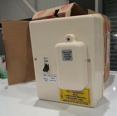 £49 • Buy Wylex Standard Range 160C 60A SP Switch Fuse Unit - New Old Stock