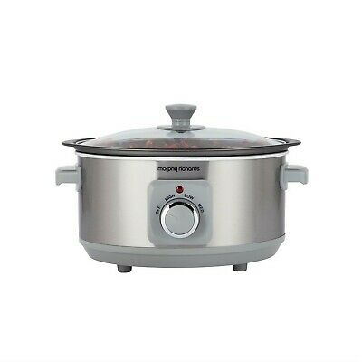 £31.95 • Buy Morphy Richards Brushed Stainless Steel 3.5 Litre Aluminium Kitchen Slow Cooker