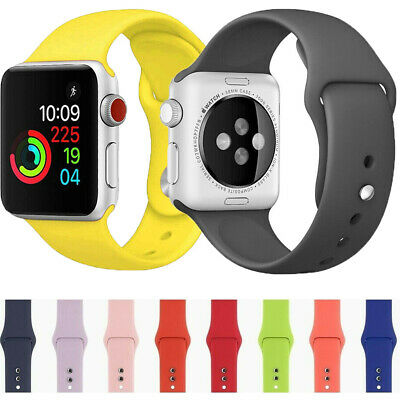 $5.96 • Buy 38/42/40/44mm Silicone Sport Band IWatch Strap For Apple Watch Series 6 SE 5 4 3