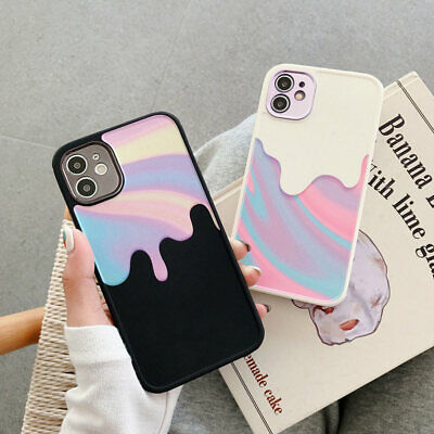 AU11.99 • Buy For IPhone 12 Pro Max 11 Pro XS Max Matte Silicone Soft Tpu Case Rainbow Cover