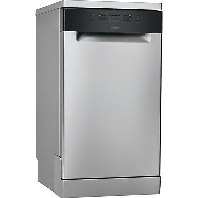 View Details Whirlpool WSFE2B19XUKN 10 Place Slimline Freestanding Dishwasher - Stainless Ste • 377.96£