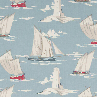 £17.38 • Buy Clarke And Clarke Skipper Marine Cotton PVC WIPE CLEAN Tablecloth Oilcloth