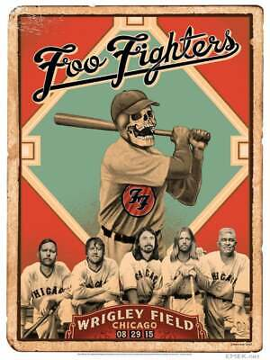 $24.99 • Buy Foo Fighters Live At Wrigley Field Concert Poster Re Print Pretty Poster Gift