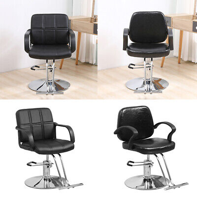 £105.99 • Buy Faux Leather Barber Chair Salon Hairdressing Adjustable Chair Stool Chrome Base