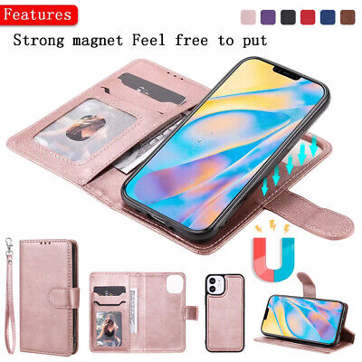 AU13.99 • Buy F IPhone 12 Pro MAX 11 7 8 6 Plus X Magnetic Removable Leather Wallet Case Cover