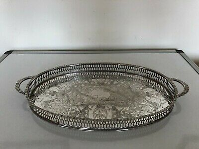 £39.99 • Buy Very Nice 2 Handled Silver Plated Gallery Tray (viners Of Sheffield) Tr-a40