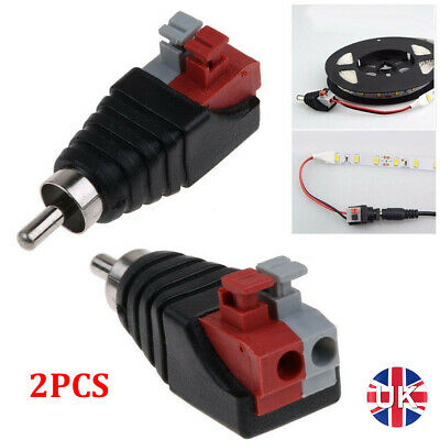 £4.67 • Buy 2PCS Speaker Wire A/V Cable To Audio Male RCA Connector Adapter Jack Press Plug