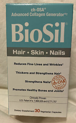 $17.99 • Buy BioSil Ch-OSA Advanced Collagen Generator - Hair Skin Nails 30 Capsules  12/22