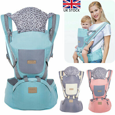 Ergonomic Infant Baby Carrier With Hip Seat Adjustable Wrap Sling Backpack New • 17.19£