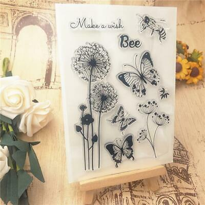 £2.74 • Buy  Butterfly Dandelion Transparent Clear Stamps Silicone Seals Rollers Stamp Best