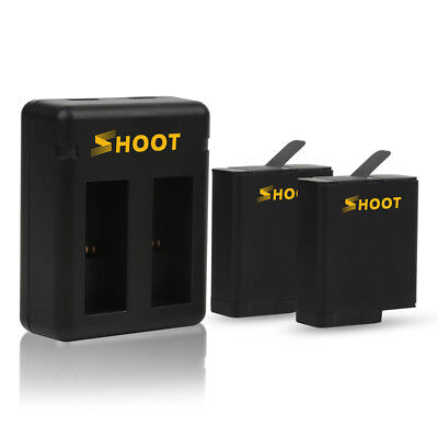$ CDN27.01 • Buy 2-Pack Batteries And Dual Charger For GoPro HERO 6 HERO 5 Black Hot