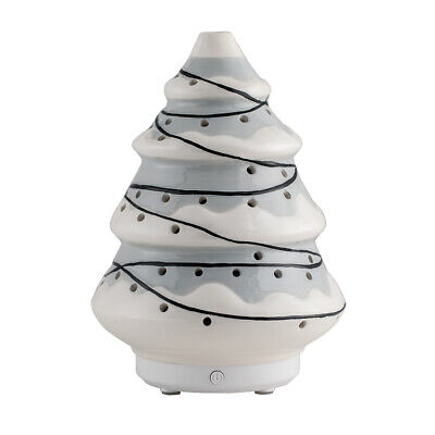 AU51.06 • Buy Christmas Tree Ultrasonic Ceramic Essential Oil Diffuser Holidays - Grey