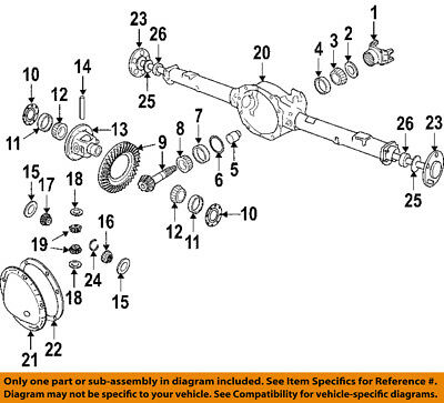 $27.75 • Buy CHRYSLER OEM Rear Differential-Pinion Seal 52070339AC