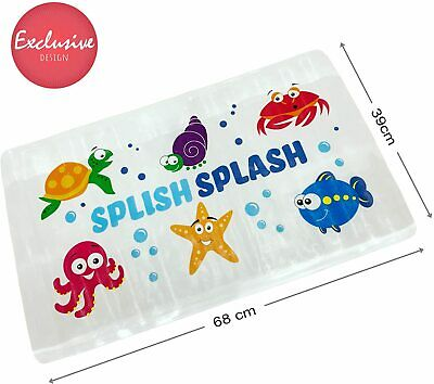 £7.97 • Buy Kids Childs Baby Anti Non Slip Long Bath Mat Safety Ducks Strong Suction Shower