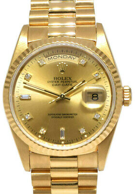 $ CDN23184.21 • Buy Rolex Day-Date President 18k YG Champagne Diamond Dial Mens Watch L Box 18238