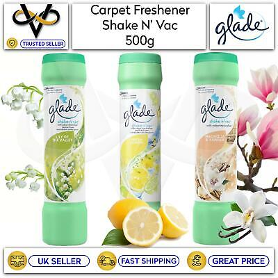 £5.95 • Buy Glade Shake N' Vac Carpet Fresheners 500g With Odour Neutraliser Assorted Scents