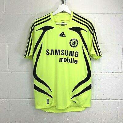 £27.95 • Buy CHELSEA 2007/2008 ADIDAS AWAY NEON FOOTBALL SHIRT JERSEY TOP MAILLOT Size SMALL