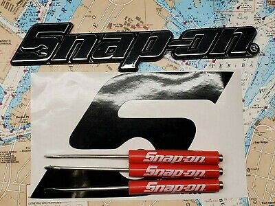 $28 • Buy Snap On Tools Decal, 6 3/4  X 4   Plus 1 Chrome Emblem And 3 Pocket Screwdrivers