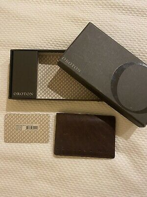 AU60 • Buy Wallet- All Leather Oroton Brand Brown Wallet Excellent Condition In Box