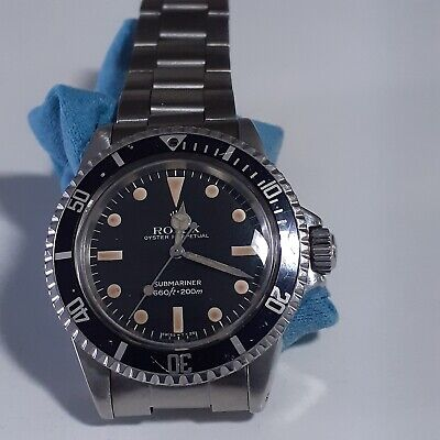 $ CDN15025.87 • Buy Rolex Submariner Steel 40 Mm Faded Black Dial 5513 Automatic Collectible Watch